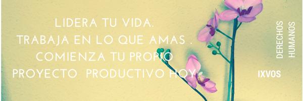 Lidera tu vida. Trabaja en lo que amas hacer.Comienza tu propiO proyecto productivo hoy